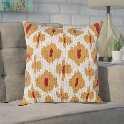 Filipina 100% Cotton Throw Pillow Cover Size: 18 H x 18 W x 1 D, Color: OrangeRed