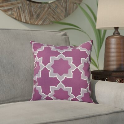 Meetinghouse Bohemian Geometric Print Throw Pillow Size: 26 H x 26 W, Color: Purple