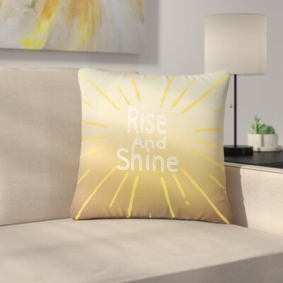 Suzanne Carter Rise and Shine Outdoor Throw Pillow Size: 16
