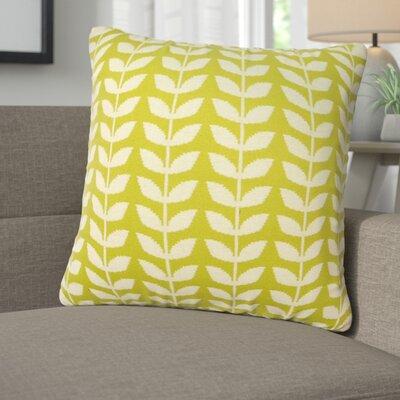 Erica Cotton Throw Pillow Color: Green/Natural