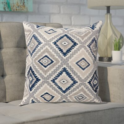 Van Tassell Diamond Print Throw Pillow Color: Blue, Size: Large