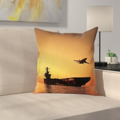Aircraft Jet War Battle Square Pillow Cover Size: 16 x 16