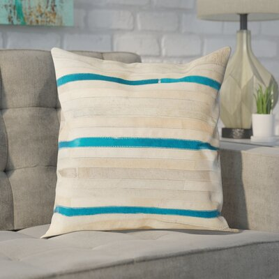 Lybarger Cotton Throw Pillow Size: 22 H x 22 W, Color: Grey
