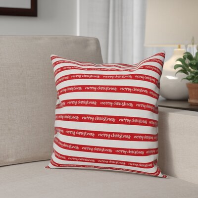 Merry Christmas Polyester Throw Pillow Type: Throw Pillow