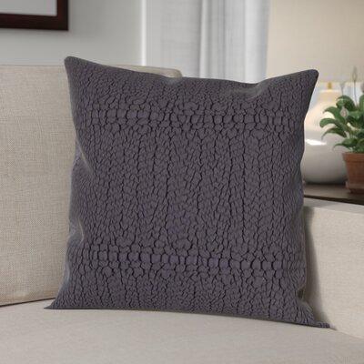 Jeffrey Cotton Throw Pillow Color: Navy