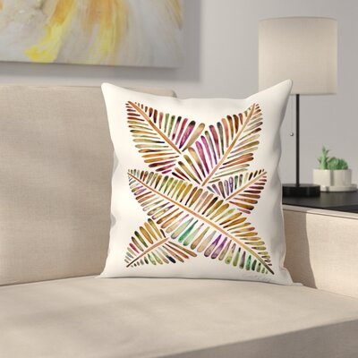 Banana Leaves Vintage Throw Pillow Size: 14 x 14