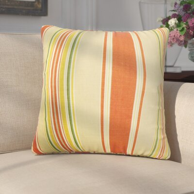 Emelie Stripes Cotton Throw Pillow Color: Red