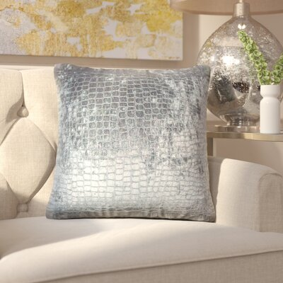 Lelon Solid Down Filled Throw Pillow Size: 22 x 22, Color: Graphite