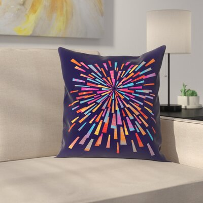 Joe Van Wetering Fireworks Throw Pillow Size: 18 x 18