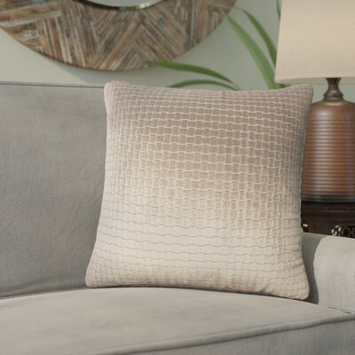 Karen Solid Throw Pillow Color: Dark Brown