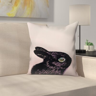 Michael Creese Bunny Throw Pillow Size: 18 x 18