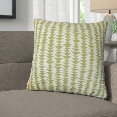 Lorelai Geometric Cotton Throw Pillow Color: Green