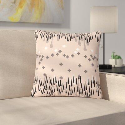 Zara Martina Mansen A Drop of Memphis Outdoor Throw Pillow Color: Peach/Pastel, Size: 18 H x 18 W x 5 D
