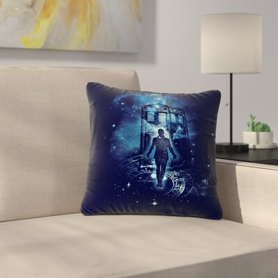 Frederic Levy-Hadida Time Traveller Fantasy Outdoor Throw Pillow Size: 16 H x 16 W x 5 D