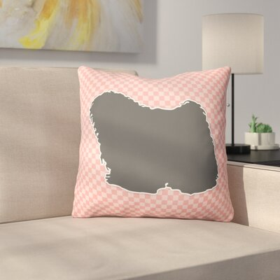 Puli Indoor/Outdoor Throw Pillow Size: 14 H x 14 W x 3 D, Color: Pink