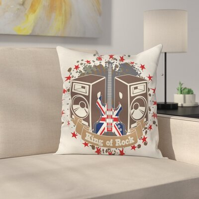 King Rock Label Square Pillow Cover Size: 20 x 20