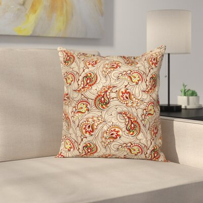 Indian Fall Leaves Square Pillow Cover Size: 16 x 16
