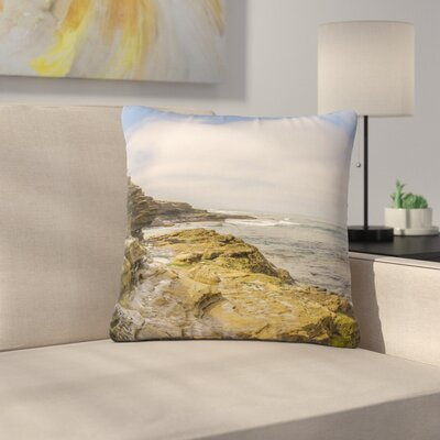Nick Nareshni Rocks over the Water Outdoor Throw Pillow Size: 16 H x 16 W x 5 D