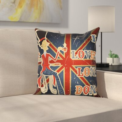 British Flag Pillow Cover Size: 24 x 24