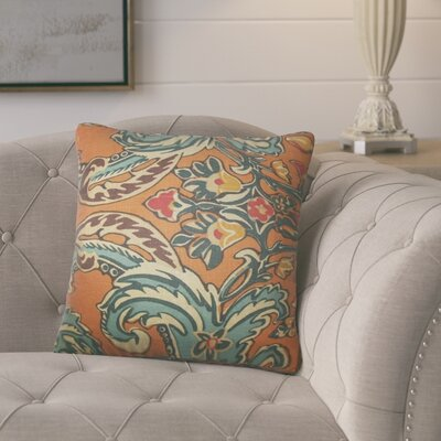 Mohall Floral Linen Throw Pillow Cover Color: Cinnamon