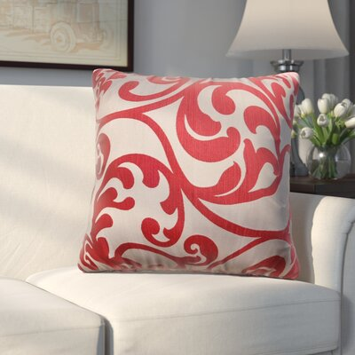 Chalfont Throw Pillow Color: Cardinal Red