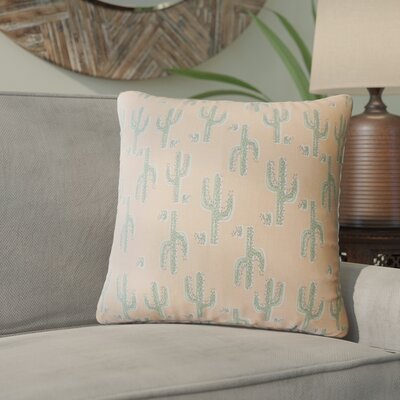 Fairhope Graphic Cotton Throw Pillow Color: Pink