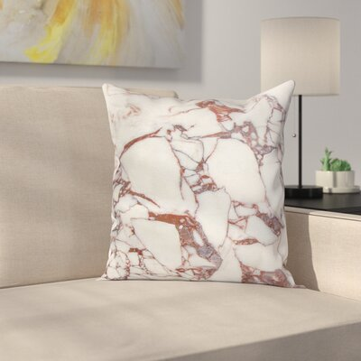 Marble Grunge Stone Square Pillow Cover Size: 16 x 16