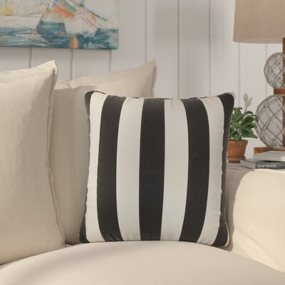 Staples Stripes Cotton Throw Pillow Color: Black