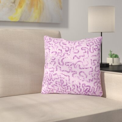 Squiggles by Anneline Sophia 16 Throw Pillow Size: 18 x 18, Color: Purple