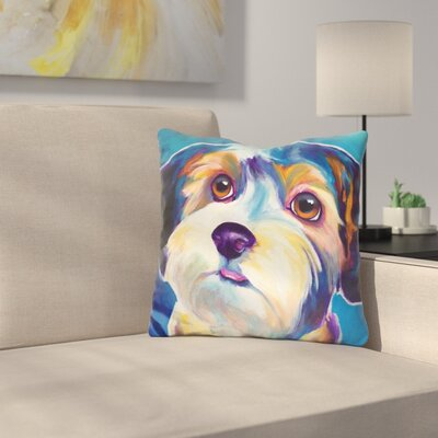 Yorkipoo Zoe Throw Pillow