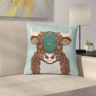 Art Love Passion Bennie - The Bull Outdoor Throw Pillow Size: 18 H x 18 W x 5 D