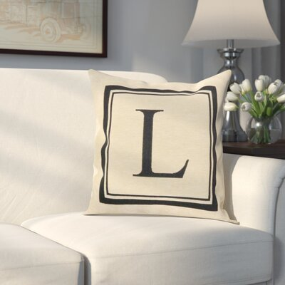Beaver Creek Monogram Throw Pillow Letter: L
