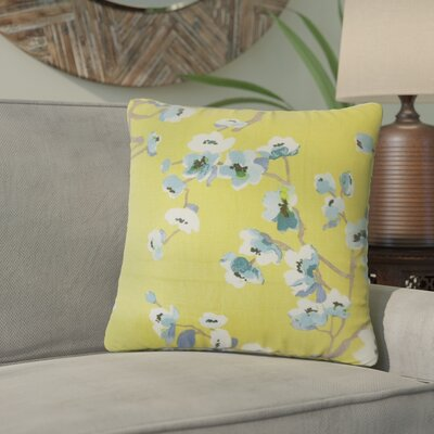 Arnot Floral Throw Pillow Color: Peridot