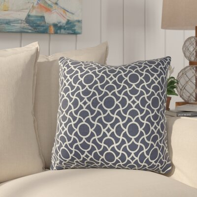 Neida Embroidered Throw Pillow Color: Navy