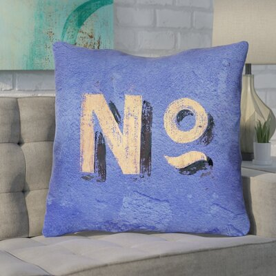 Enciso Graphic Wall Euro Pillow with Zipper Color: Blue