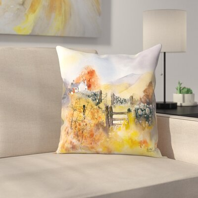 Gold Throw Pillow Size: 20 x 20