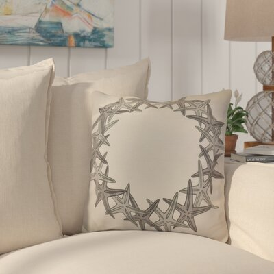 Huong Decorative Holiday Geometric Print Throw Pillow Size: 18 H x 18 W, Color: Gray