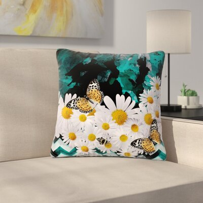 Shirlei Patricia Muniz Secret Garden Floral Outdoor Throw Pillow Size: 18 H x 18 W x 5 D