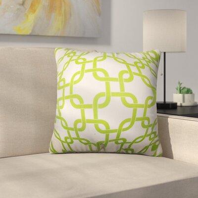 Sundberg Geometric Cotton Throw Pillow Color: Green
