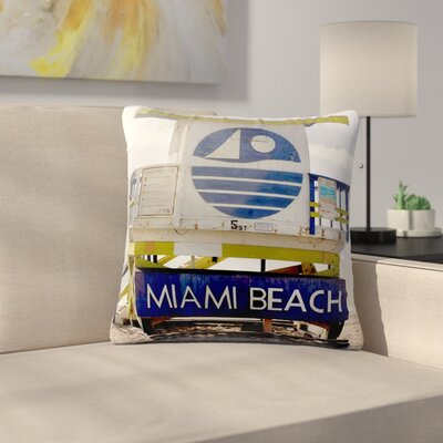 Philip Brown Miami Beach Lifeguard Outdoor Throw Pillow Size: 18 H x 18 W x 5 D