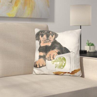 Oops Rottweiler Throw Pillow