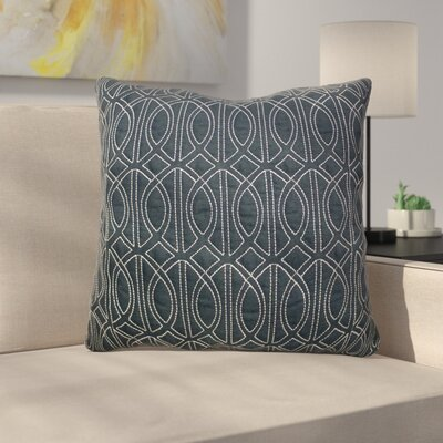 Antonina Quilted Throw Pillow Color: Navy