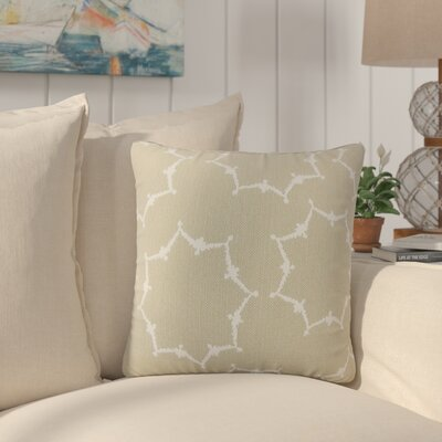Zaizi Geometric Cotton Throw Pillow Color: Tan