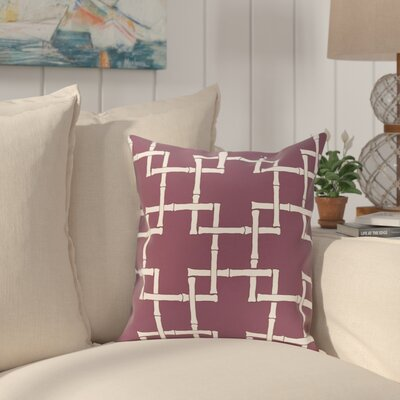 Connelly Bamboo Geometric Outdoor Throw Pillow Size: 16 H x 16 W, Color: Purple