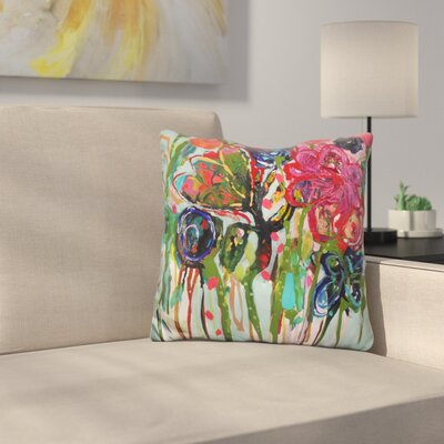 Flower Demo Throw Pillow
