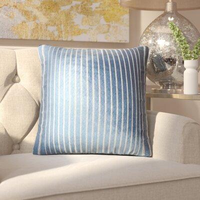 Brecken Striped Throw Pillow Color: Navy