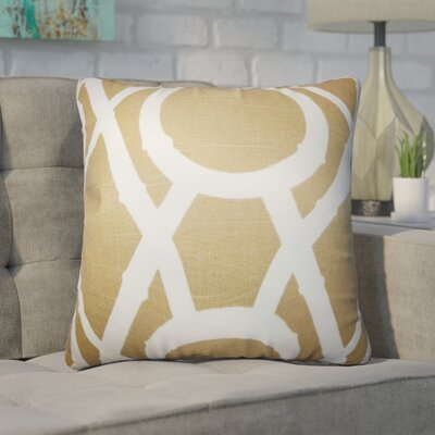 Wolfgang Geometric Cotton Throw Pillow Color: Tan