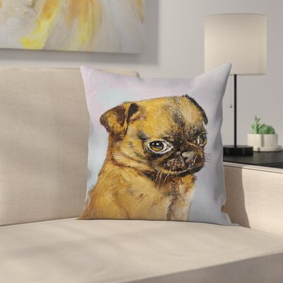 Michael Creese Pug Puppy Throw Pillow Size: 20 x 20