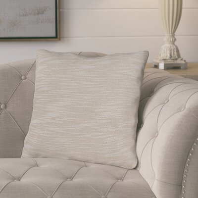 Lyell Throw Pillow Color: Cream, Fill Material: Down Fill