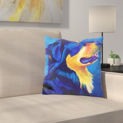 English Shepherd Donut Throw Pillow